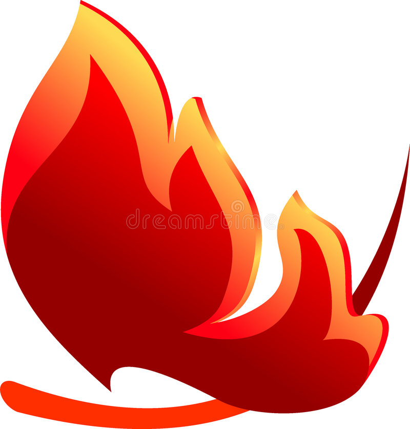 Abstract fire symbol. For your design vector illustration