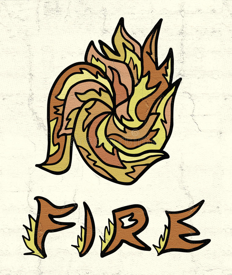 Abstract fire symbol. Design of abstract fire symbol stock illustration