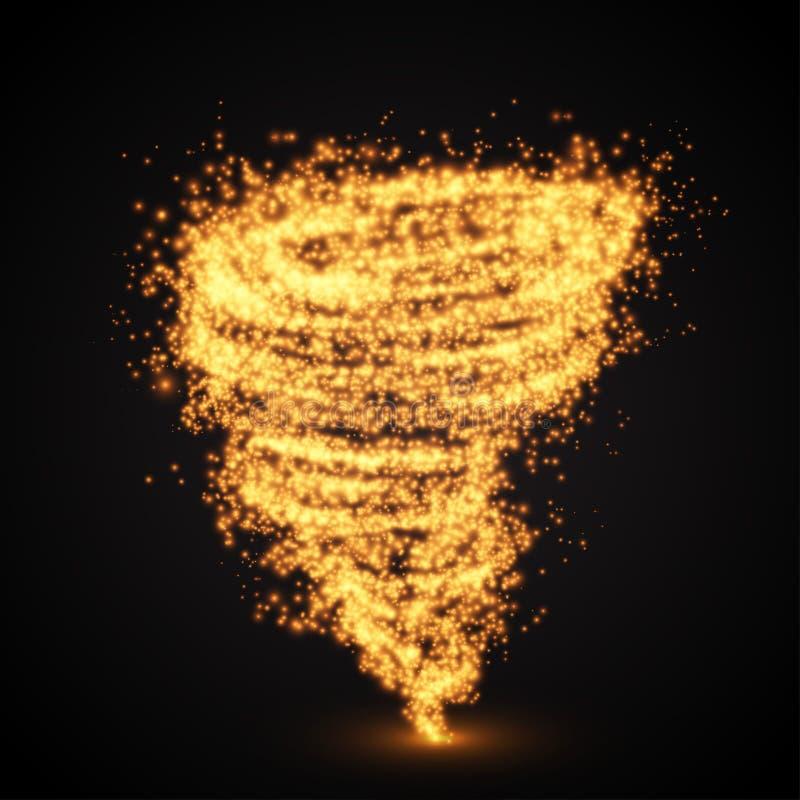 Abstract fire tornado swirl. Vector illutration. Abstract fire tornado swirl. Vector illutration stock illustration