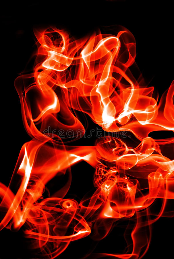 Abstract fire waves. Abstract red fire waves and smoke on black background royalty free stock photography
