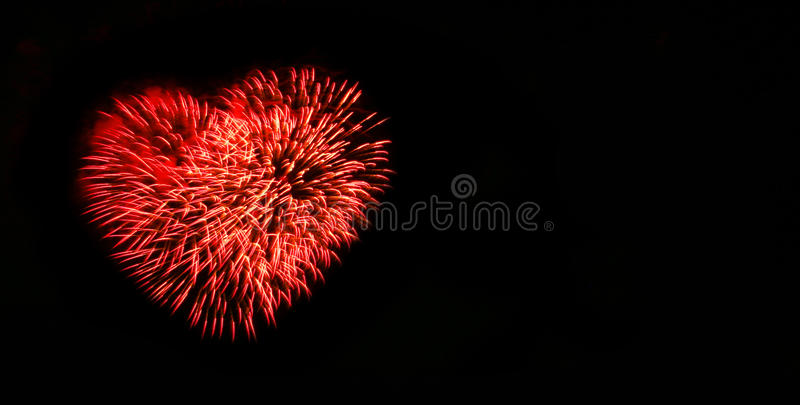 Abstract fireworks light up in the sky at night. Concept of celebration with copy space for text royalty free stock images