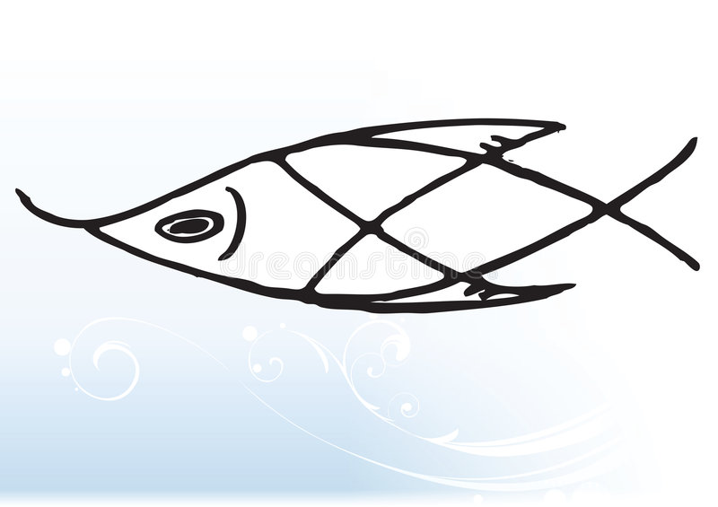 Abstract fish vector illustration