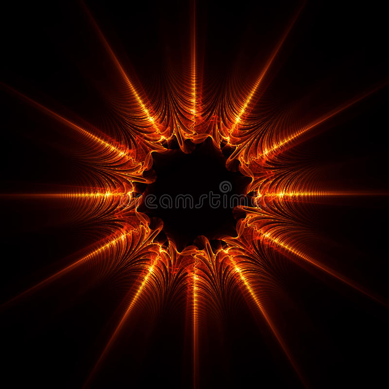 Abstract Flame star