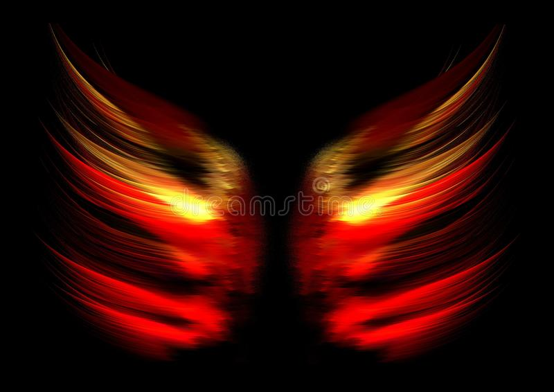 Abstract flame wings vector illustration
