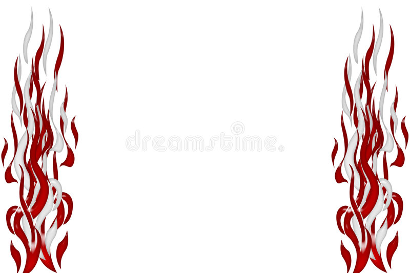 Abstract flames vector illustration