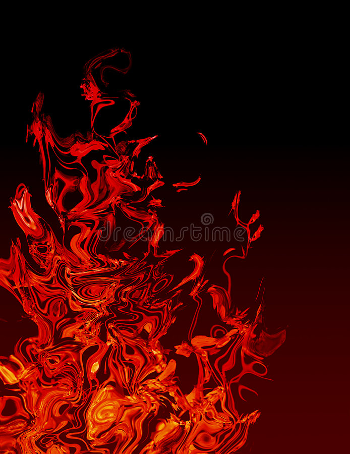 Abstract Flames stock illustration