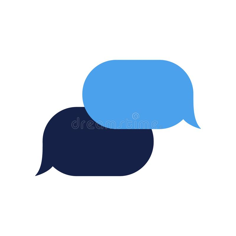 Vector application message bubble of people dialog talking stock photo