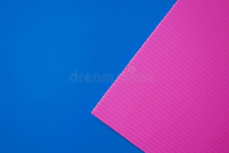 Abstract flat lay background with color crepe paper sheets. royalty free stock photos