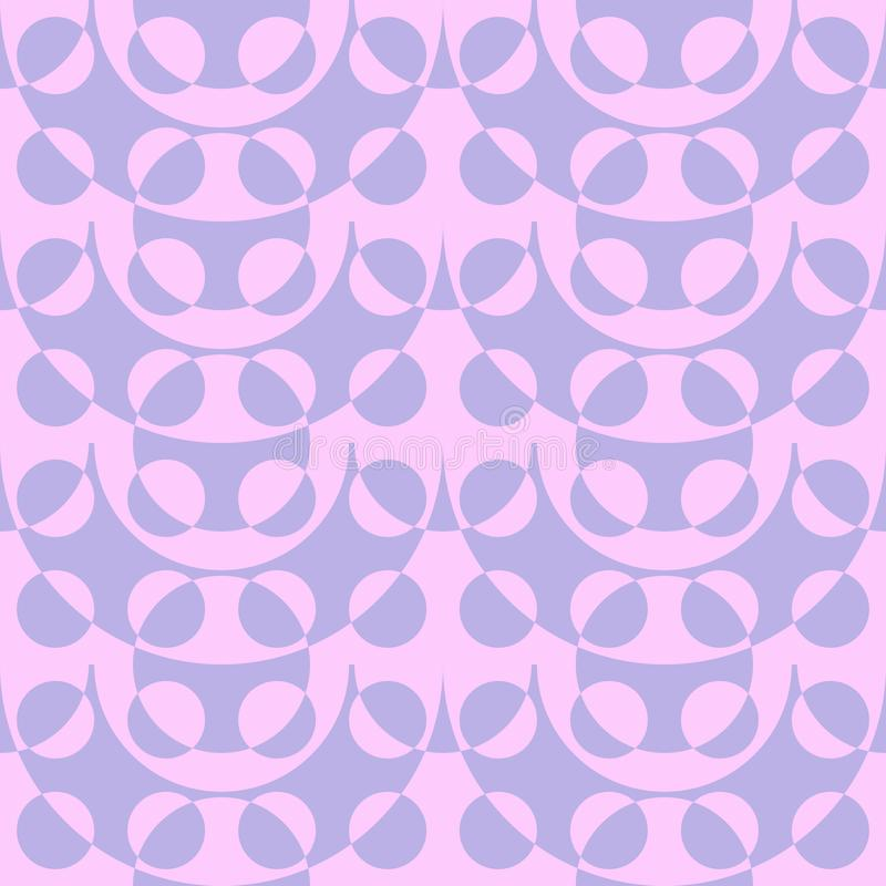 Abstract flat seamless pattern with contrast bubbles. Timeless simple geometric pattern royalty free illustration