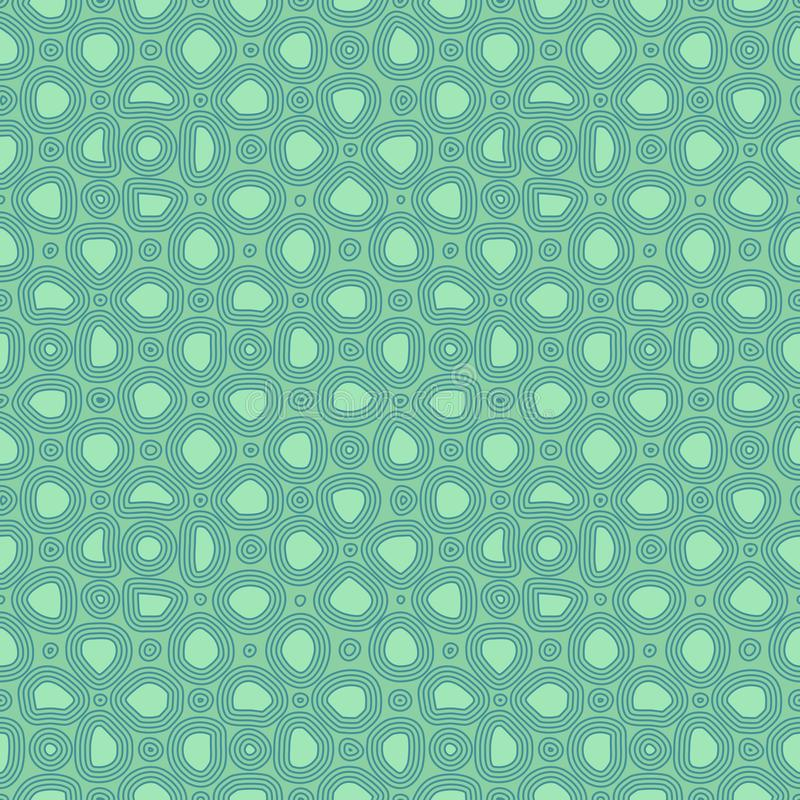 Abstract flat stones, hand drawn ethnic pattern. Vector blue retro ornament for textile, prints, wallpaper, wrapping paper, web. Etc vector illustration