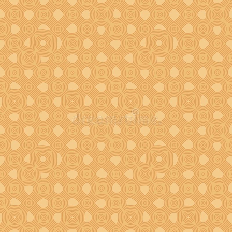Abstract flat stones, hand drawn ethnic pattern. Vector cozy retro ornament for textile, prints, wallpaper, wrapping paper, web. Etc stock illustration