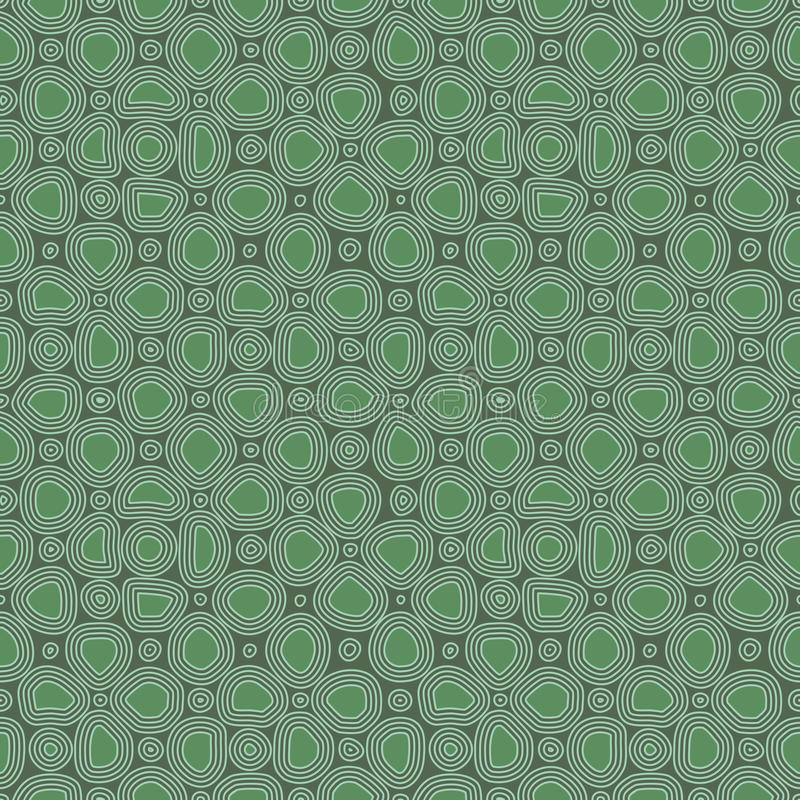 Abstract flat stones, hand drawn ethnic pattern. Vector green retro ornament for textile, prints, wallpaper, wrapping paper, web vector illustration