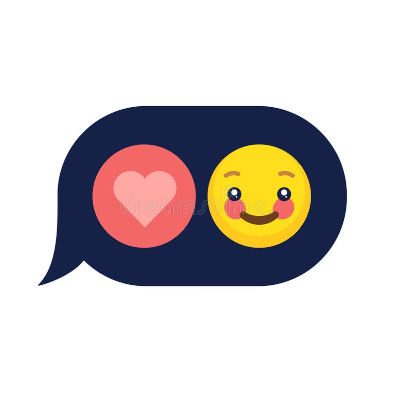 Vector emotion emoji emoticon faces icon set. stock photos