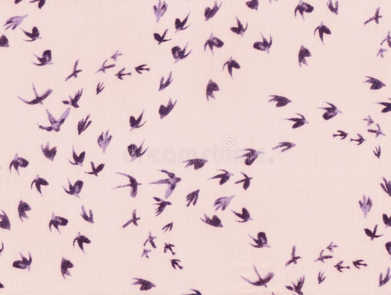 Abstract flight of swallows. stock photo