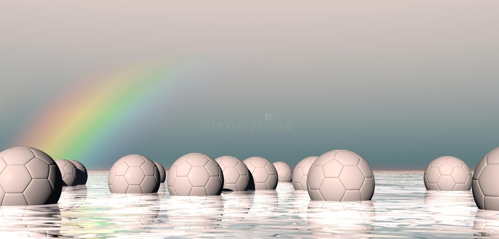 Download Abstract floating spheres stock illustration. Image of spheres - 14971063