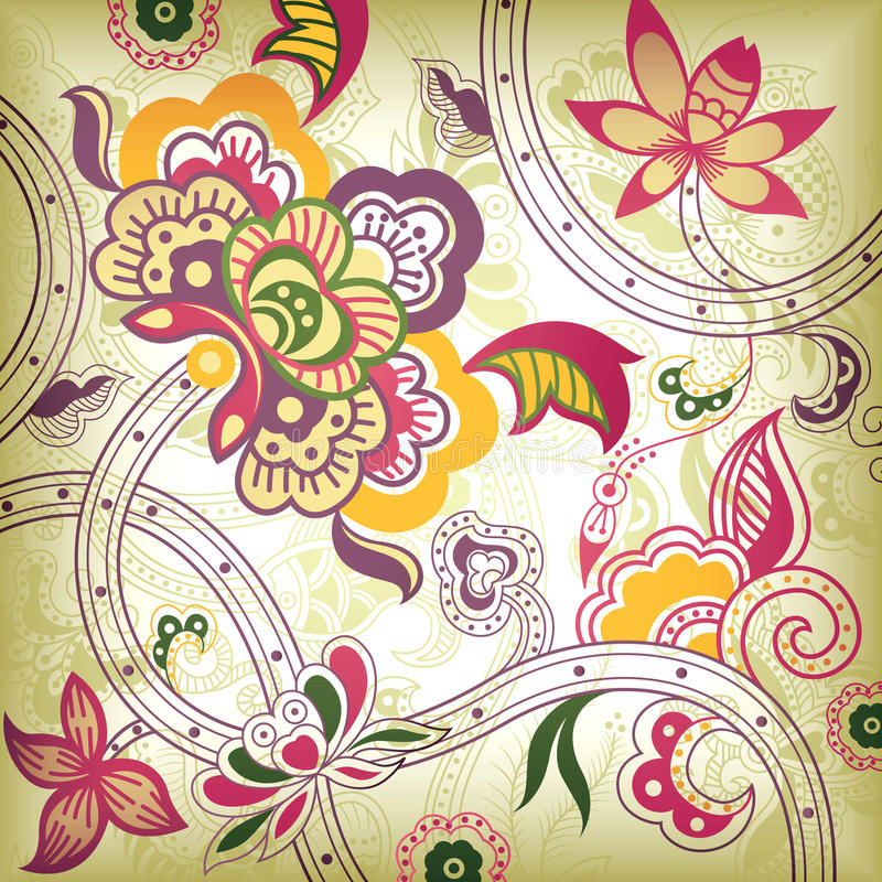 Abstract Floral royalty free illustration
