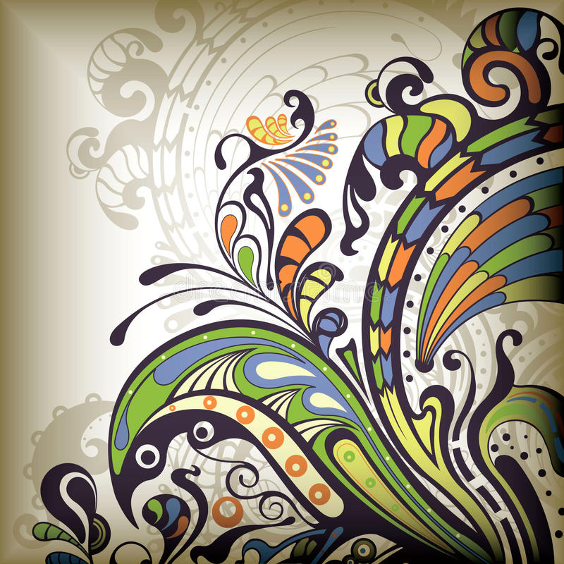 Abstract Floral stock illustration