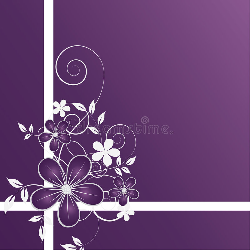 Abstract floral backgroun stock illustration