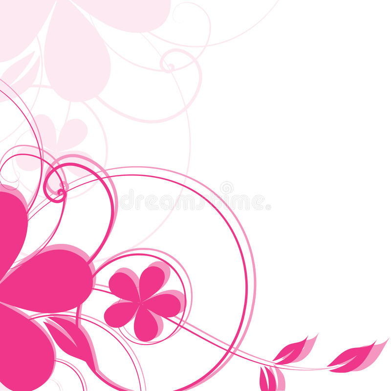 Abstract floral background. Abstract flowers background with place for your text vector illustration