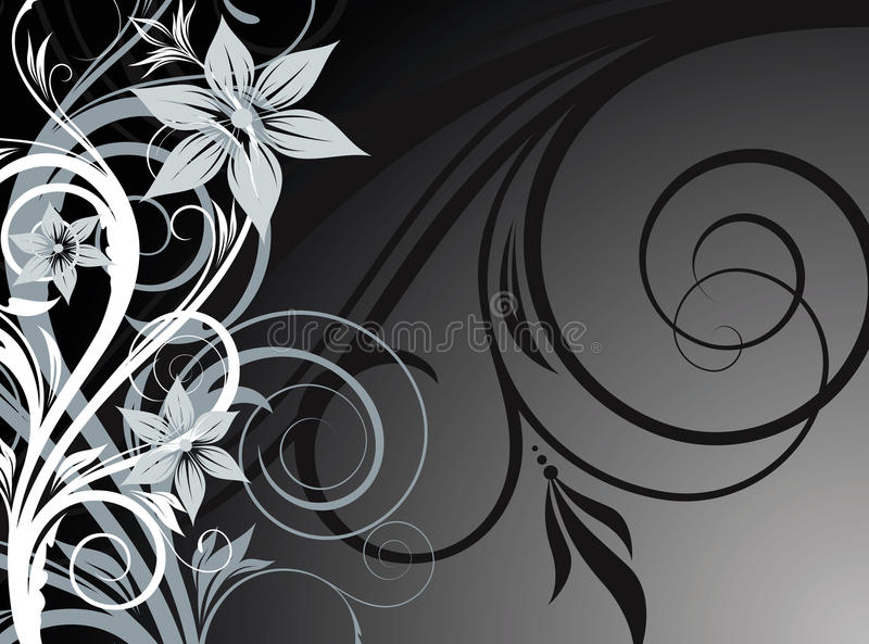 Download Abstract floral background stock vector. Illustration of black - 20921068