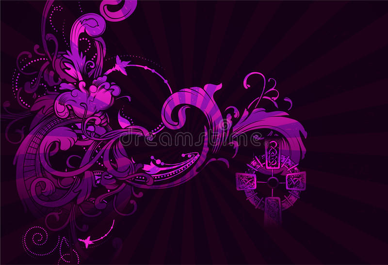 Download Abstract floral background stock illustration. Image of flower - 24833893