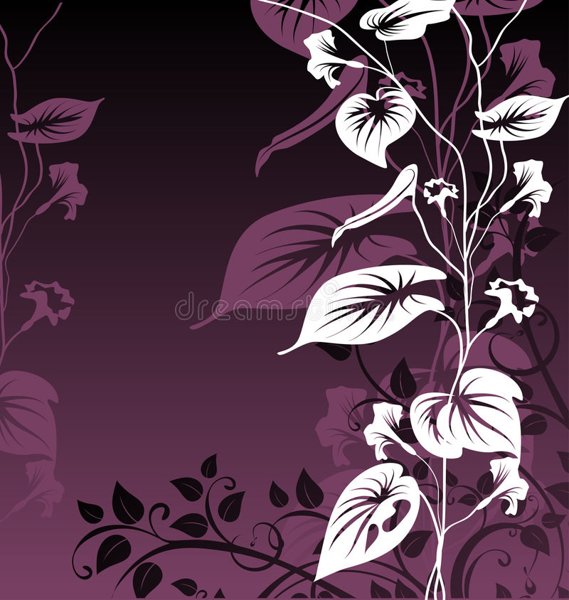 Abstract floral background. A vector format is added. Suits well for a postcard or background stock illustration