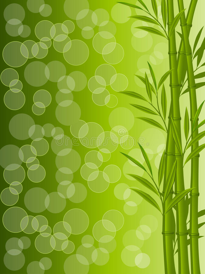 Download Abstract Floral Background With A Bamboo Stock Vector - Illustration: 19087482