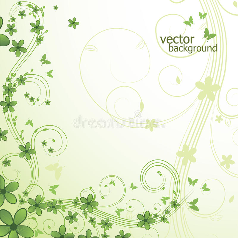 Abstract floral background with butterfly. Abstract floral background with flower and butterfly. Vector illustration vector illustration