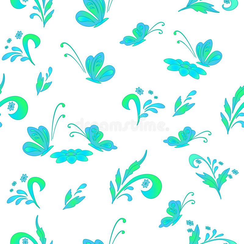 Abstract floral background, contours royalty free illustration