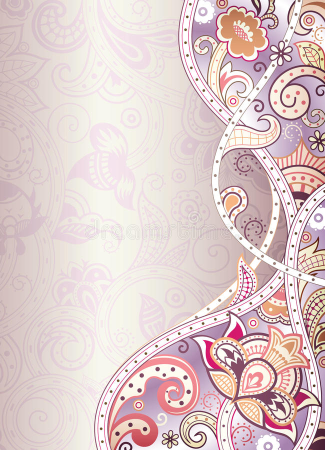 Abstract Floral Background. Illustration of Abstract Floral Background vector illustration