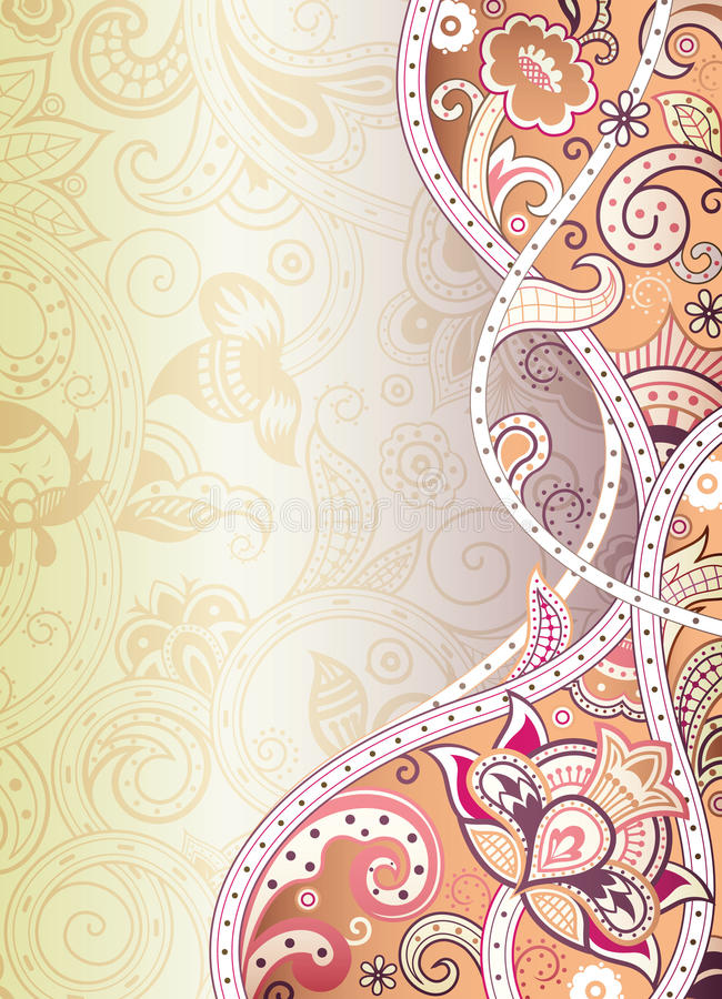 Abstract Floral Background stock photo
