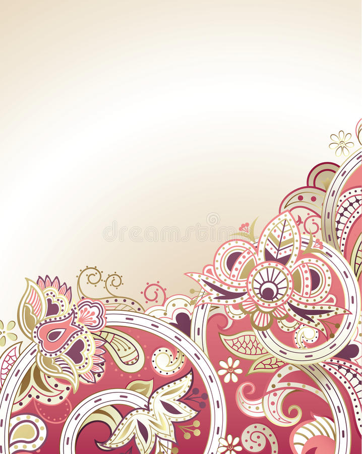 Abstract Floral Background stock images