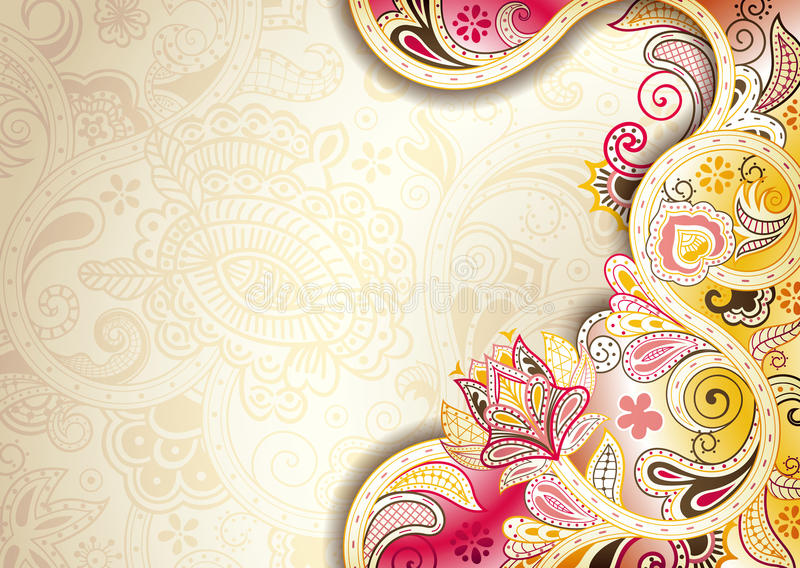 Abstract Floral Background Stock Illustration Image Of