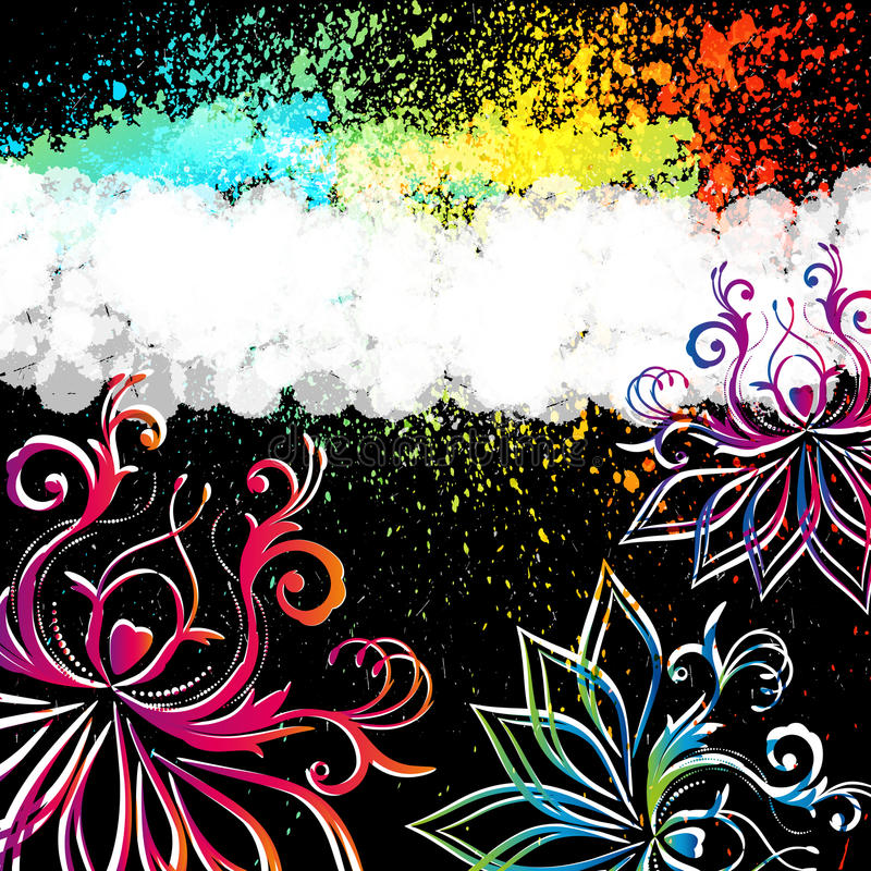 Abstract floral background with oriental flowers. royalty free stock images