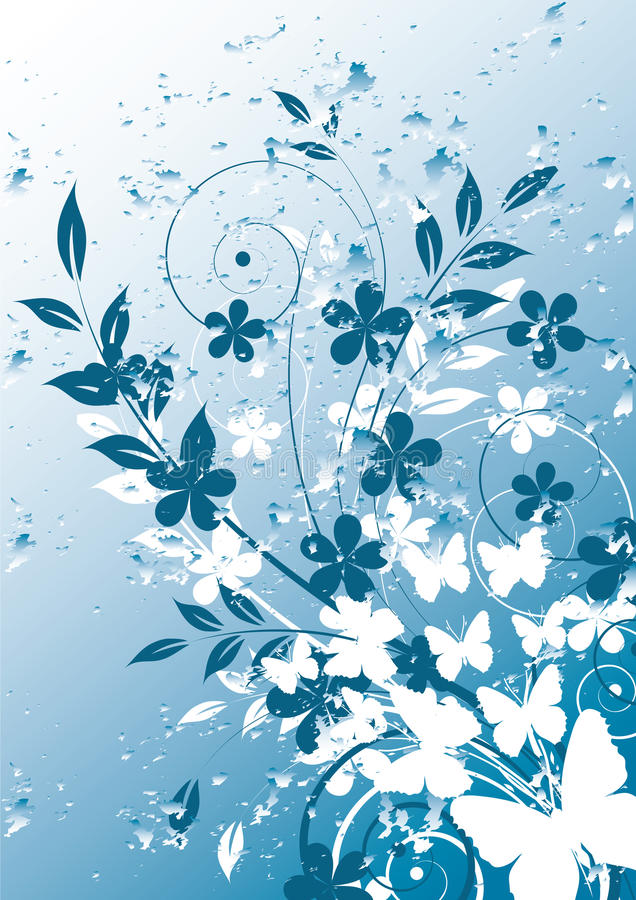 Abstract floral background with place for your te vector illustration