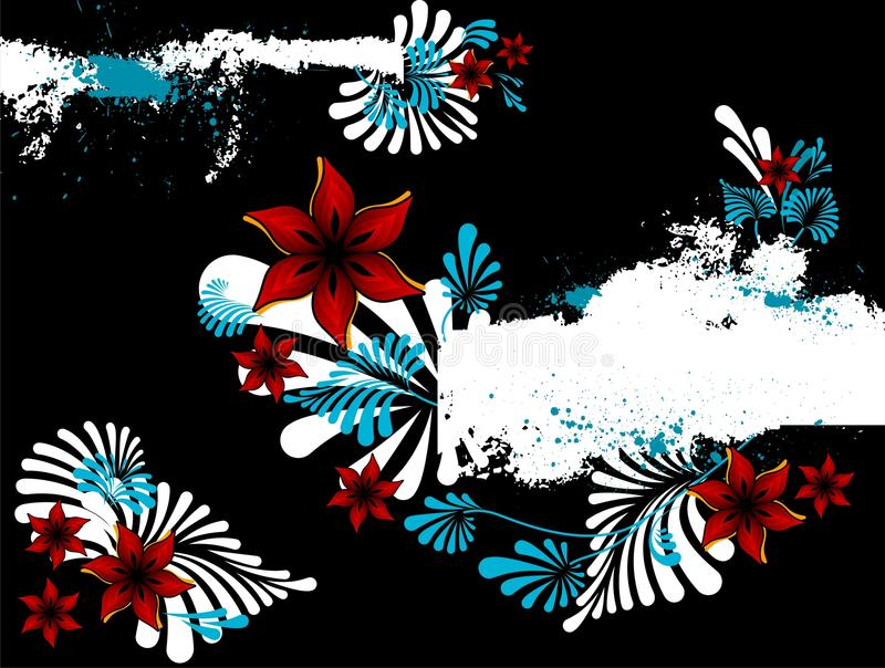 Abstract floral background with place for your tex. T royalty free illustration