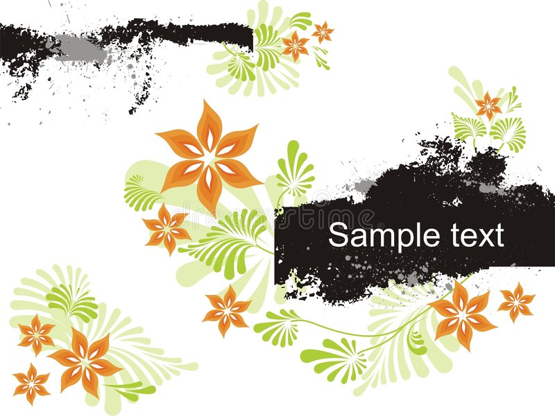 Abstract floral background with place for your tex. T vector illustration