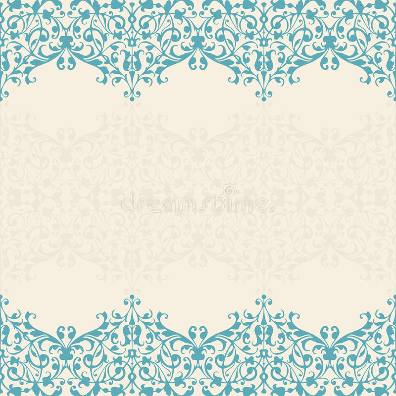 Free Abstract Floral Background. Seamless Lace Royalty Free Stock Images - 41774289