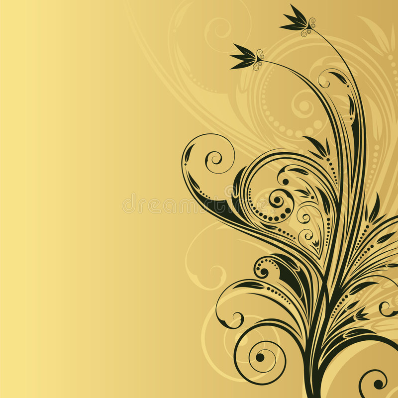 Abstract floral background with space for text vector illustration