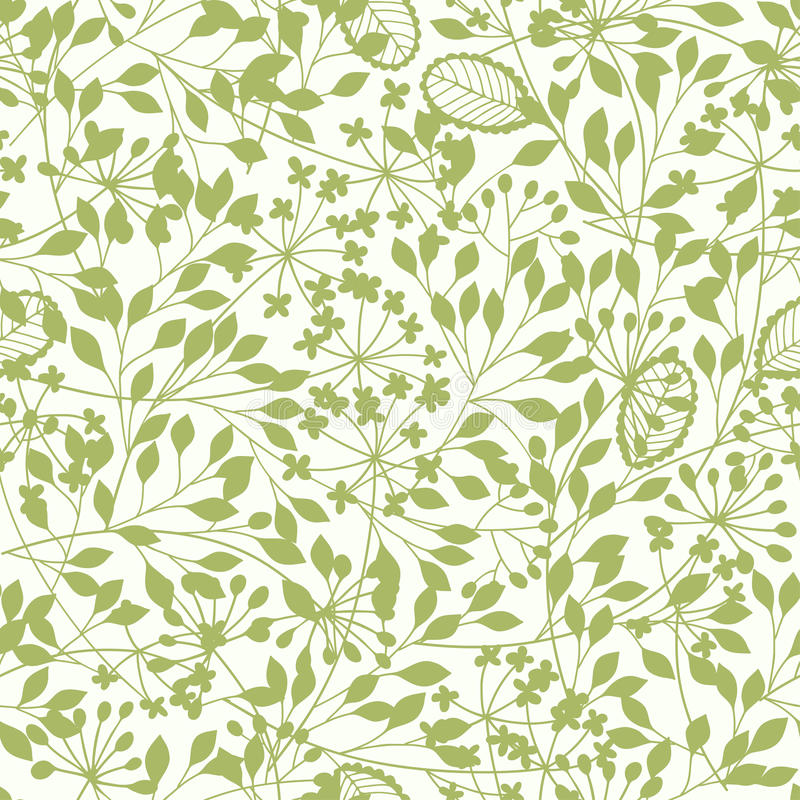 Abstract floral background. Spring seamless pattern with hand d. Abstract floral background. Seamless pattern with stylized plants vector illustration