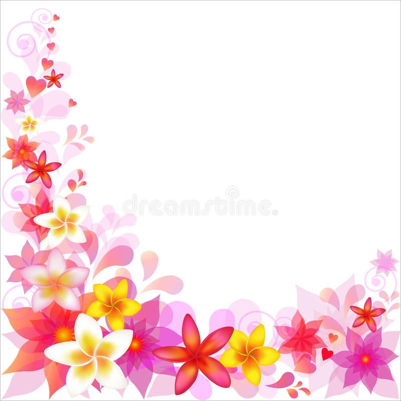 Abstract Floral Background. Vector stock illustration