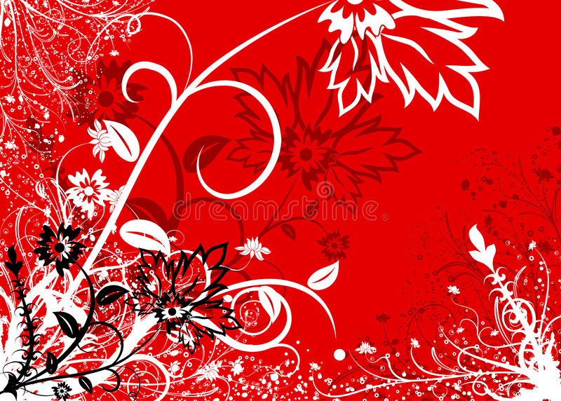 Abstract floral background, vector royalty free stock photos