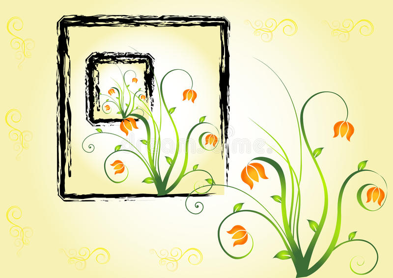 Abstract floral background. Vector. Image royalty free illustration