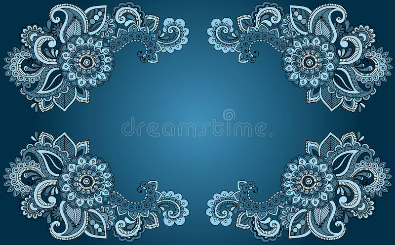 Abstract floral background. Vector.Art royalty free illustration