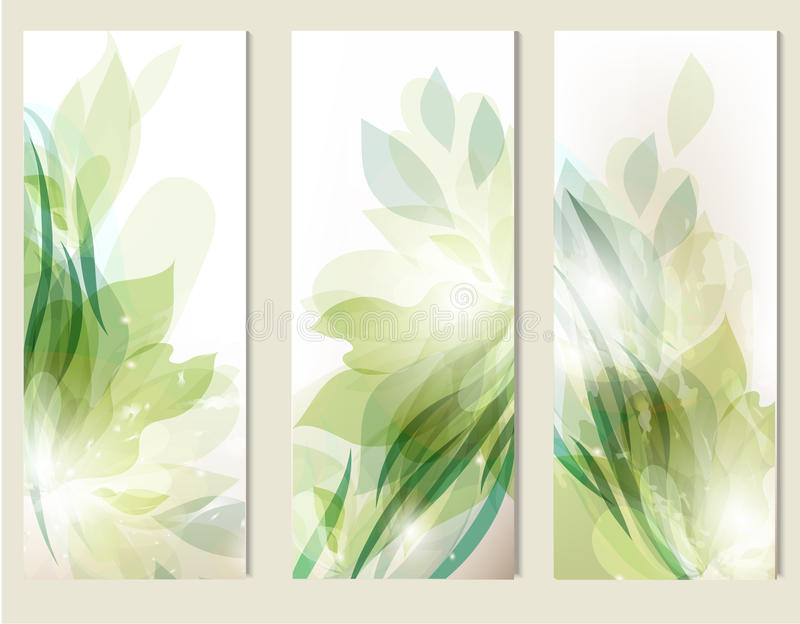 Abstract floral backgrounds set royalty free illustration