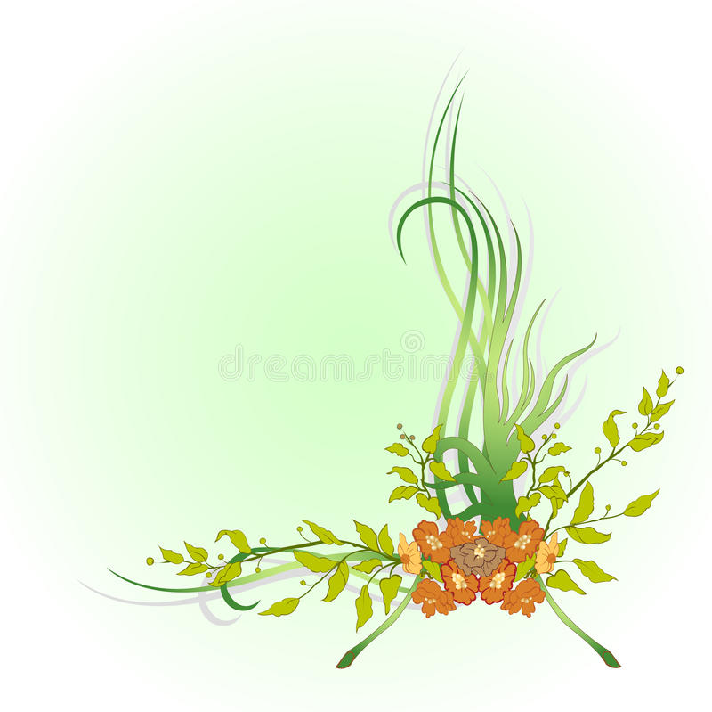Abstract floral border vector illustration