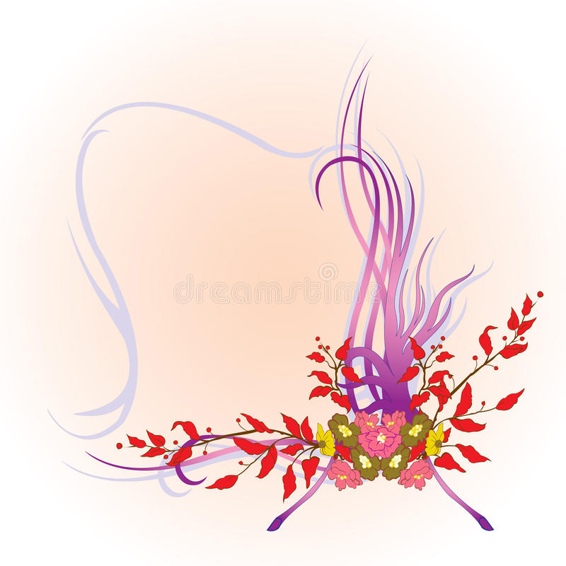 Abstract floral border royalty free illustration