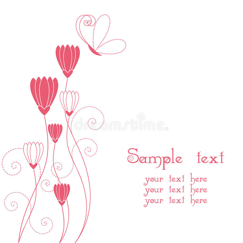 Download Abstract Floral With Butterfly Greeting Card Royalty Free Stock Photo - Image: 15034945