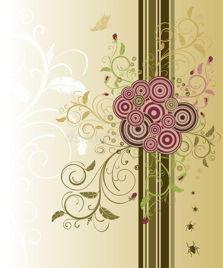 Abstract floral chaos vector illustration