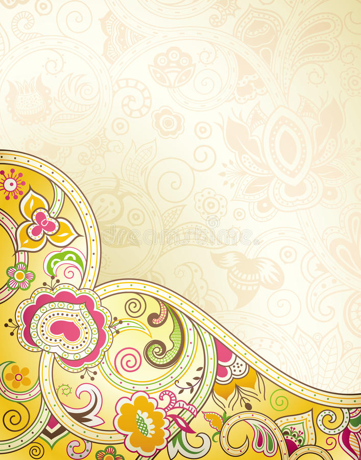 Download Abstract Floral Curve stock illustration. Image of curve - 27634520